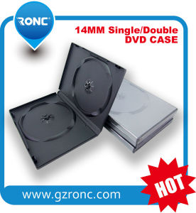 Black Strong Plastic Single Double DVD Case 14mm pictures & photos