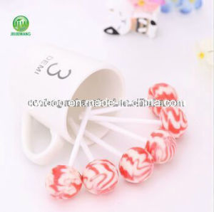 Coolsa Double Fruit Flavor Lollipop with Strawberry and Milk pictures & photos