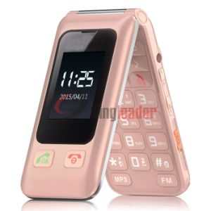 "2.4"" Touch Screen Quad-Band Flip Senior Cell Phone (V15) pictures & photos"