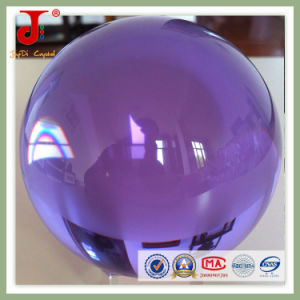Transparent Purple Crystal Glass Ball (JD-CB-101) pictures & photos