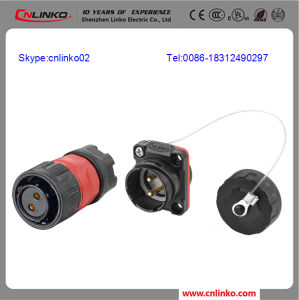 Professional Manufacturer Wire Panel Mount Connector/Circular Electric Connector with Black Shell pictures & photos