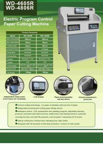 18 Inch Program-Control Paper Cutting Machine (WD-4605R) pictures & photos