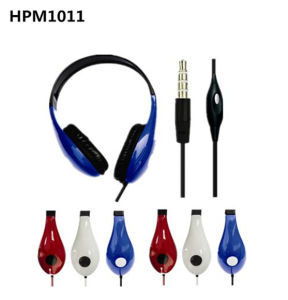 Over Ear Wired Headset Headphone with Microphone