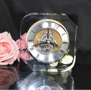 Home Decorative Crystal Glass Clock (KS06051) pictures & photos