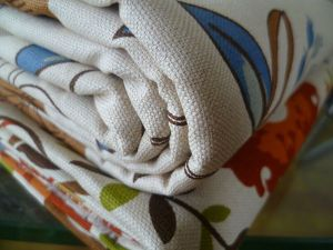 Printed Linen Fabric for Upholstery Pillowcase Sofa Fabric