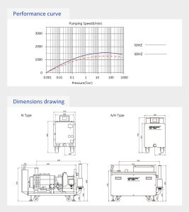 Variable Motor Hokaido Dry Screw Vacuum Pump (RSE 80) pictures & photos