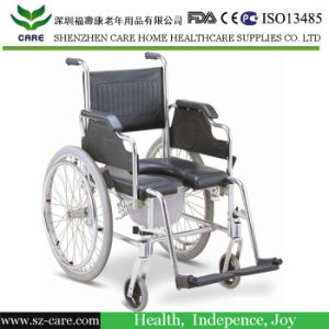 Aluminum Wheelchair with PU Commonde Seat pictures & photos