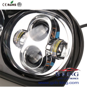 90W 3500lm Dual Headlamps Black Sliver for Harley Motorcycle pictures & photos