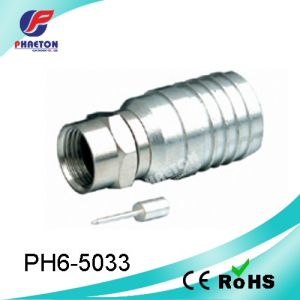 Rg11 Crimp F Connector for Coaxial Cable (pH6-5033) pictures & photos