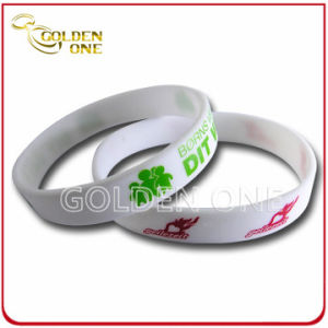 Most Popular Custom Pure Color Screen Print Silicone Wrist Band pictures & photos