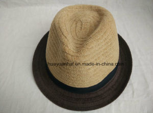 100% Wool with Double Color Fedora Hats