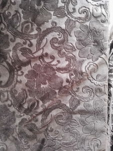Italy Velvet Fabric 3D Embossed
