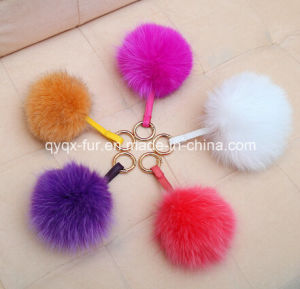 Real Fox POM Keychain 11-18cm pictures & photos