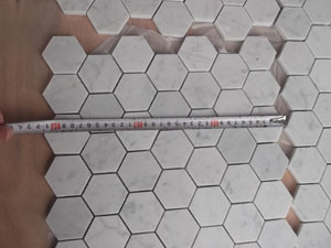 Carrara White Hexagon Marble for Mosaic Tile /Floor Tile pictures & photos