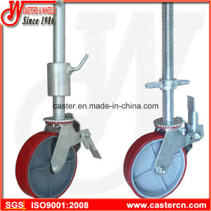 Adjustable Scaffolding Swivel Caster Wheel with Brake pictures & photos