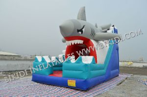 High Quality with Cheap Price Inflatable Water Slide for Kids, Inflatable Shark Slider B4105 pictures & photos