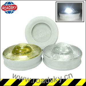 Highway Safety Reflective White Cateyes Temper Glass Road Reflector pictures & photos