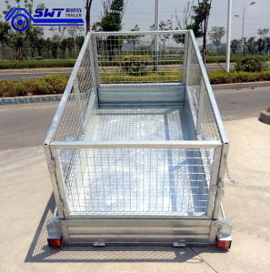2 Axle Enclosed Tandem Trailers Import From China (SWT-TT85) pictures & photos