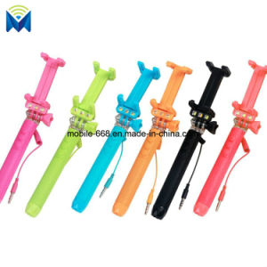 Universal Mini LED Selfie Stick Monopod Built-in Remote for iPhone Samsung Huawei Xiaomi Sony etc pictures & photos