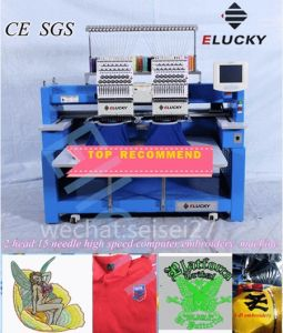 Functional High Speed 1200spm 2 Heads Embroidery Machine