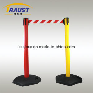 Outdoor Plastic Retractable Belt Queue Pole pictures & photos