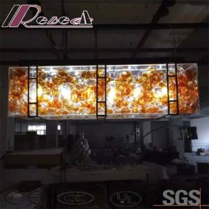 Modern Hotel Decorative Amber Glass Ball Chandelier pictures & photos