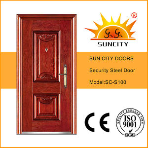 Simple Design Exterior Steel Main Door (SC-S100) pictures & photos