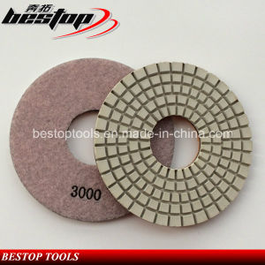 "D150mm 6"" Dry Diamond Polishing Pad for Concrete Floor pictures & photos"