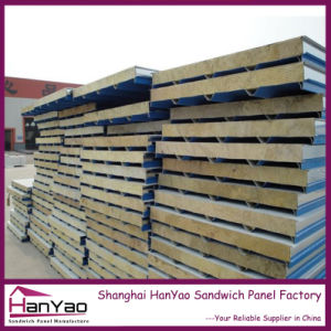 Fireproof Steel Composite Rockwool Sandwich Pane Wall Panels pictures & photos