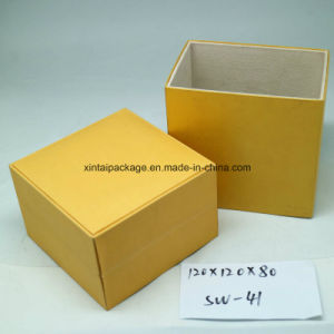 Plastic Watch Box with Leatherrete Paper pictures & photos