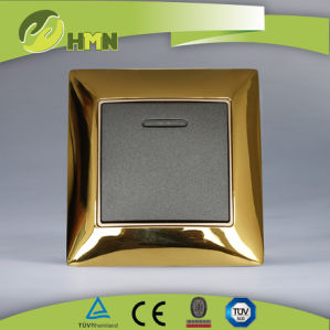 Ce/TUV/BV Certified European Standard Metal Zinc Wall Switch pictures & photos