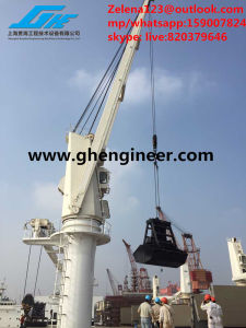 Electric /Hydraulic Bulk Carrier Marine Deck Crane pictures & photos