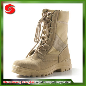 Anti-Slip Breathable Insole Wearing-Resisting Ankle Brown Military Boots pictures & photos