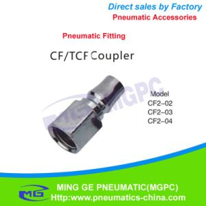 Threaded Direct Way Pneumatic Fitting / Coupler (CF2-02) pictures & photos