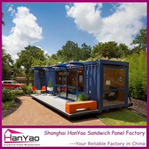 High Quality Steel Structure Luxury Bule Shipping Container for Living pictures & photos
