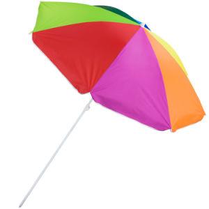 7′ Nylon Beach Sun Umbrella (height adjustable w/tilt UV 30+) pictures & photos