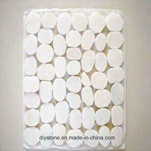 White Round Pebble Granite Flatstone Patio Tile pictures & photos