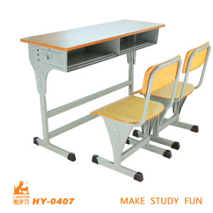 Simple Wooden Adjust Design Study Table and Chair pictures & photos