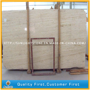 Polished Roman Beige Marble Travertine Flooring for Kitchen and Bathroom pictures & photos