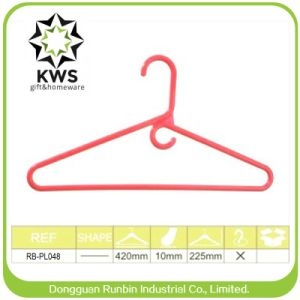 Good Display Siut Hanger, Cloth Hanger with Good Quality for Display Unit Price Red Pants Hanger with Clips