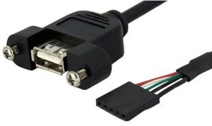 Panel Mount USB Cable a Male to 5pin Connector pictures & photos