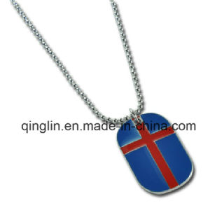 Custom Cross Pattern Pet Tag with Chain/Necklace (QL-GP-0025) pictures & photos