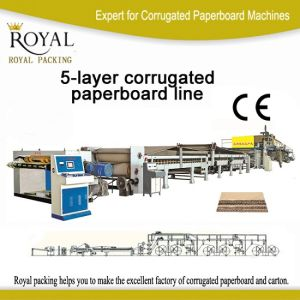 5 Layers Corrugated Cardboard Production Line with 1800mm pictures & photos