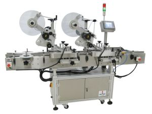 Nonstop Dual Head Automatic Top Labeling Machine/Labeler pictures & photos