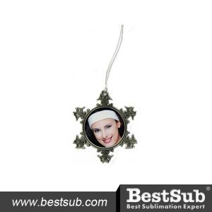 Bestsub Promotional Snow Flake Pewter Ornament (SD01) pictures & photos