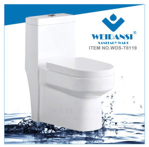 Weidansi Ceramic Siphonic S-Trap One Piece Toilet (WDS-T6119) pictures & photos