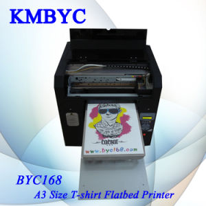 High Quality A3 Flatbed T Shirt Clothes Printing Machine pictures & photos