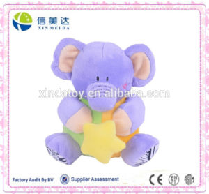 Custom Plush Toys Sitting Elephant with a Star pictures & photos