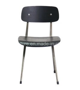 671-H45-Stw Wooden Seat Stainless Steel Frame School Student Chair Color Optional