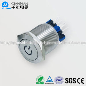 22mm Resetable Self-Locking Flat Character Illuminated IP67 Ik10 Push Button Switch pictures & photos